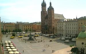 Главная площадь Кракова из отеля Wentzl