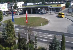 Автовокзал в городе Нова-Демба в Польше