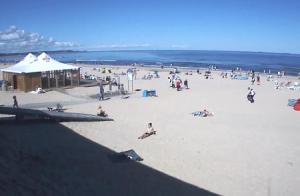 Пляж в Свиноустье в Польше