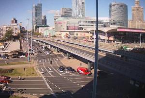 Веб камера в Варшаве с видом на центр города