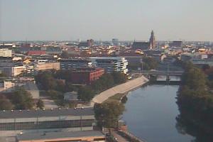 Панорама города Вроцлав в Польше