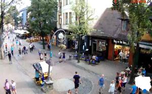 Улица Круповки в Закопане в Польше