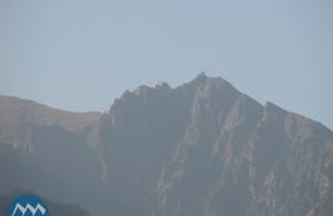 Вершины гор Татры в городке Закопане в Польше