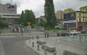 Площадь Свободы в городе Рыбник в Польше