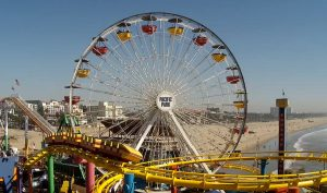 Колесо обозрения в парке развлечений Pacific в Санта-Монике