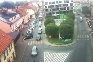 Веб камера города Сыцув, вид из здания UMiG