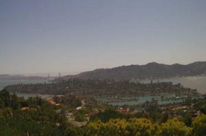 Панорама города Тибурон в Калифорнии