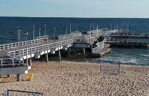 Песчаный пляж Гданьска в Польше