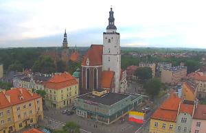 Панорама города Олесница в Польше