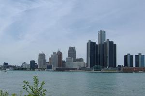 Панорама Детройта, штат Мичиган