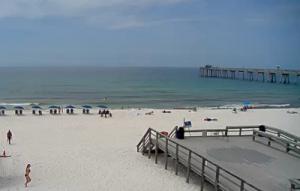 Пляж в Форт-Уолтон-Бич в штате Флорида в США