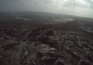Вулкан Килауэа с лавой на острове Гавайи