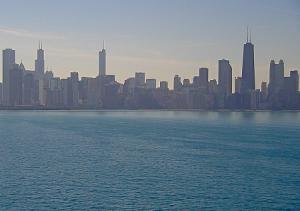Панорама Чикаго в штате Иллинойс