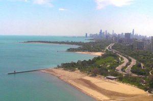 Побережье Чикаго в штате Иллинойс