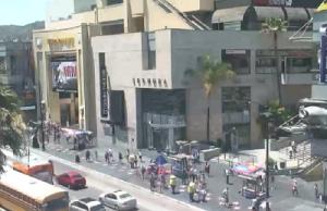 Голливудский бульвар в Лос-Анджелесе в штате Калифорния