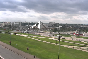 Площадь Тысячелетия в Казани, веб камера на улице Баума