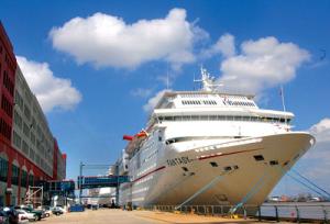Порт города Новый Орлеан в США