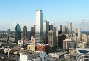 Панорама Далласа в штате Техас