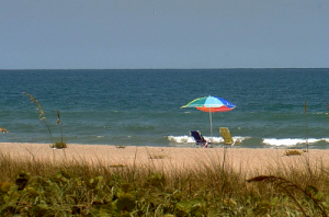 Пляж в городе Коко-Бич в штате Флорида в США
