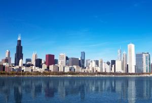 Центр Чикаго в штате Иллинойс