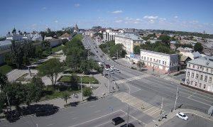 Астраханский Кремль и Октябрьская площадь в Астрахани