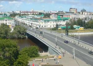 Улица Ленина и Юбилейный мост в Омске