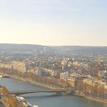 Веб камера показывает реку Сена в Париже во Франции