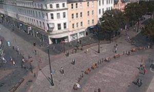 Главная площадь города Данди в Шотландии
