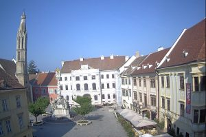 Главная площадь города Шопрон в Венгрии