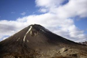 Веб камера показывает вулкан Жупановский на Камчатке