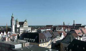 Панорама города Аугсбург из отеля Аугуста