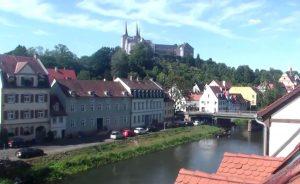 Река Регниц в городе Бамберг в Германии