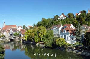 Панорама города Тюбинген в Германии в реальном времени