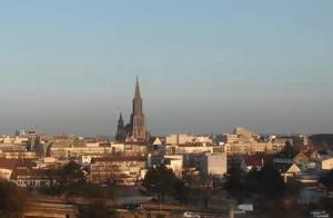 Панорама города Ульм в Германии
