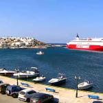 Порт в Гаврио на острове Андрос в Греции