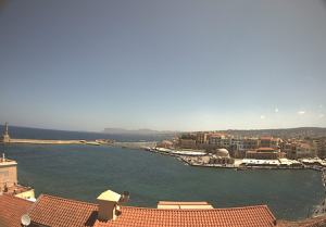 Венецианская гавань в Ханья на острове Крит в Греции
