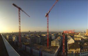 Панорама города Базель в Швейцарии
