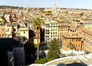 Панорама Рима в Италии