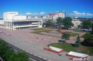 Площадь Ленина в Симферополе в Крыму
