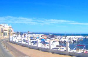 Порт деревни Эль Молинар на острове Майорка на Балеарских островах в Испании