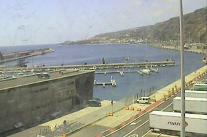 Морской порт Санта-Крус-де-ла-Пальма на острове Ла-Пальма в Испании