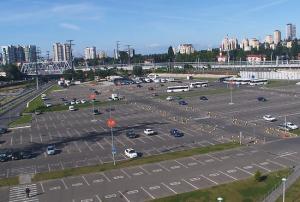 Вид со здания ТРЦ МореМолл в Сочи