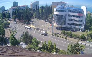 Перекресток улиц Курортный проспект и Учительская в Сочи