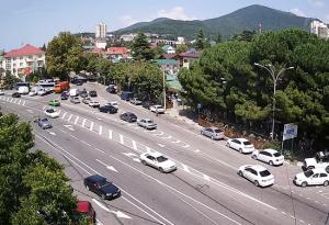 Перекрёсток улиц Лазарева, Победы и Аэродромная в Лазаревском районе Сочи