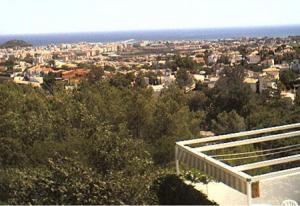 Панорама города Дения в Испании