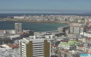 Панорама города Ла-Корунья в Испании