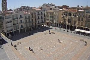 Главная площадь города Реус в Каталонии в Испании