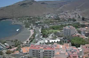 Панорама Сан-Себастьян-де-ла-Гомера на острове Гомера на Канарских островах в Испании
