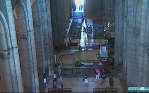 Веб камера находится в Кафедральном соборе в городе Сантьяго-де-Компостела