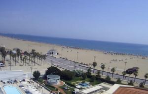 Пляж Лас Аренас в Валенсии в Испании